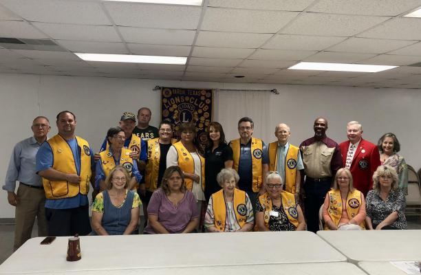 All members of the Marlin Lions club present at the meeting on June 23.
