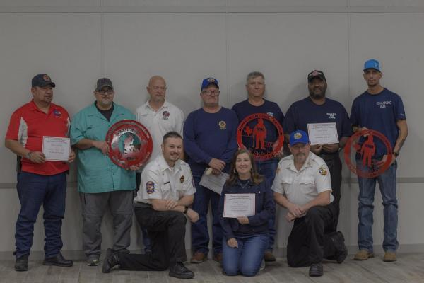 The Falls County Volunteer Firefighter Association honored members for outstanding performance.