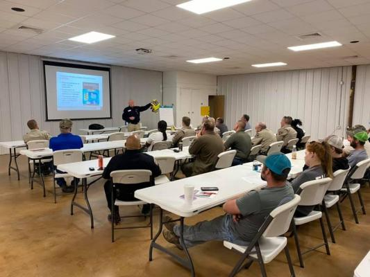 Falls County Volunteer FireFighter Association holds Traffic Safety Class for area first responders. Photo by Rodney Hall, Chilton VFD