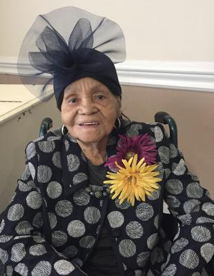 Mrs. Fredonia Davis will celebrate her 105th birthday on March 26, 2020.