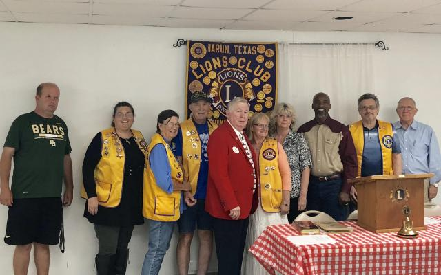 New members of the Marlin Lions Club.