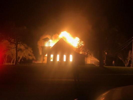 Mooreville United Methodist Church caught fire on Februaury 7, 2019.