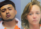 Mugshots: David Espinoza, left. Raelynn Swinnea, right.