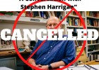 """""""A Conversation with Stephen Harrigan,"""" has been canceled."""